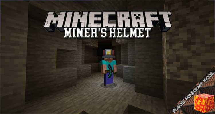 Miner's Helmet Mod 1.16.5/1.15.2/1.14.4