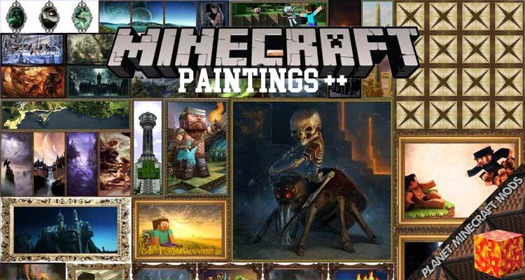 Paintings ++Mod 1.16.4/1.12.2/1.10.2