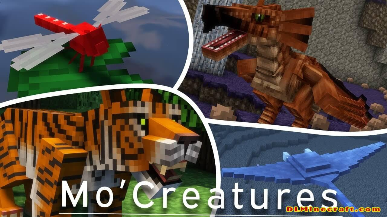 Mo' creatures mod has many mobs. Source: YouTube