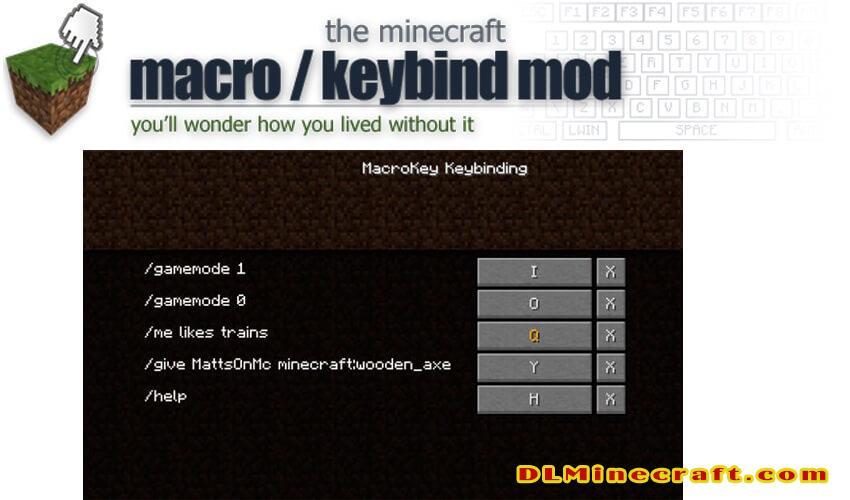 MacroKey Keybinding Mod