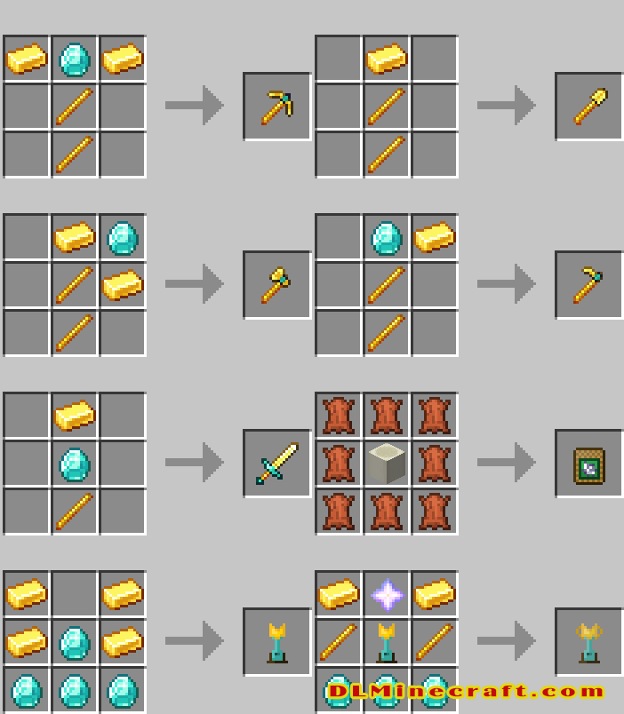 Crafting Recipes Super Tools Mod