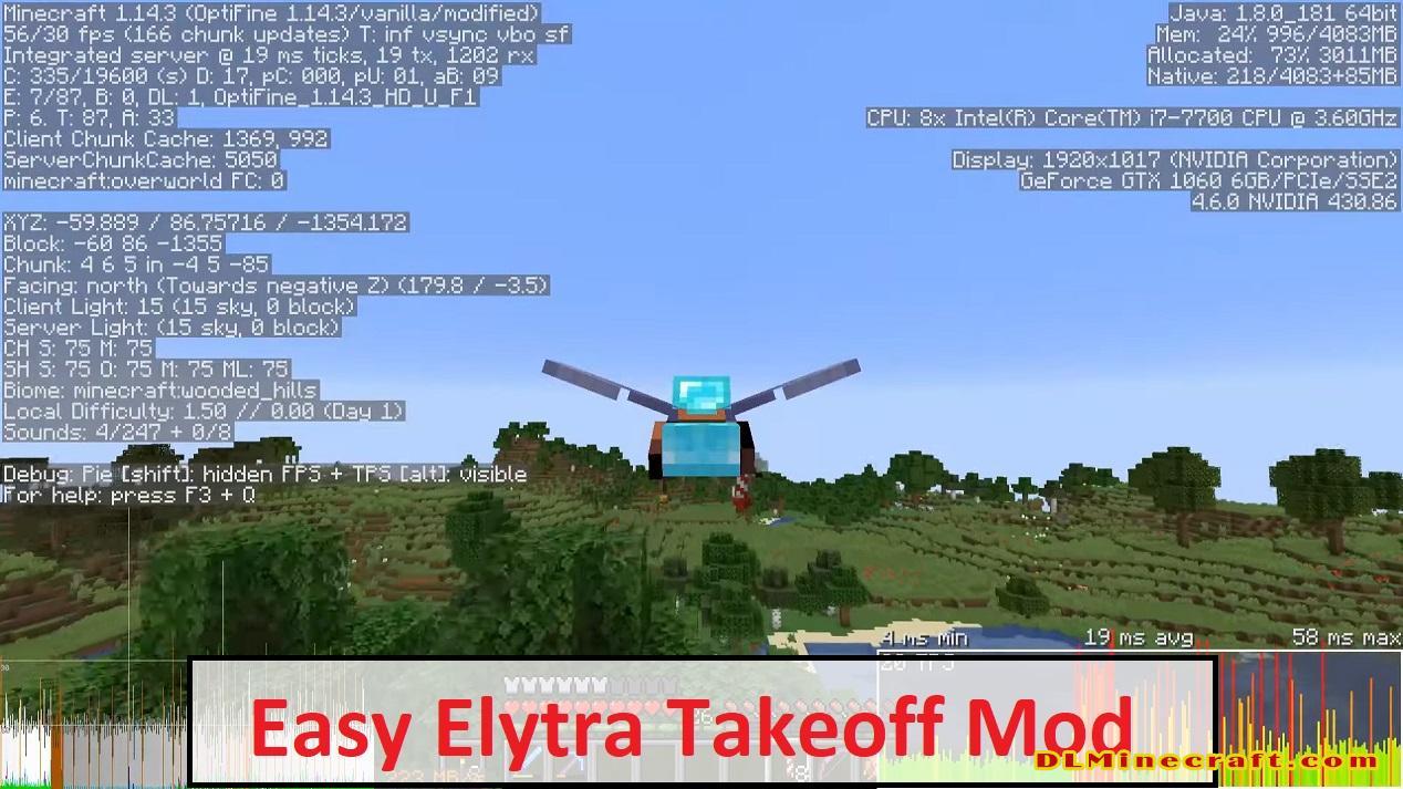 Easy Elytra Takeoff Mod