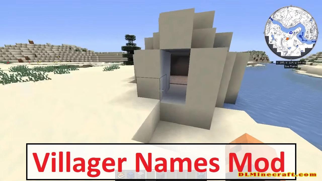 Villager Names Mod